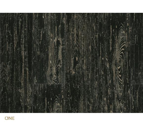 Виниловый пол LG Decotile Сосна окрашенная черная 3 мм